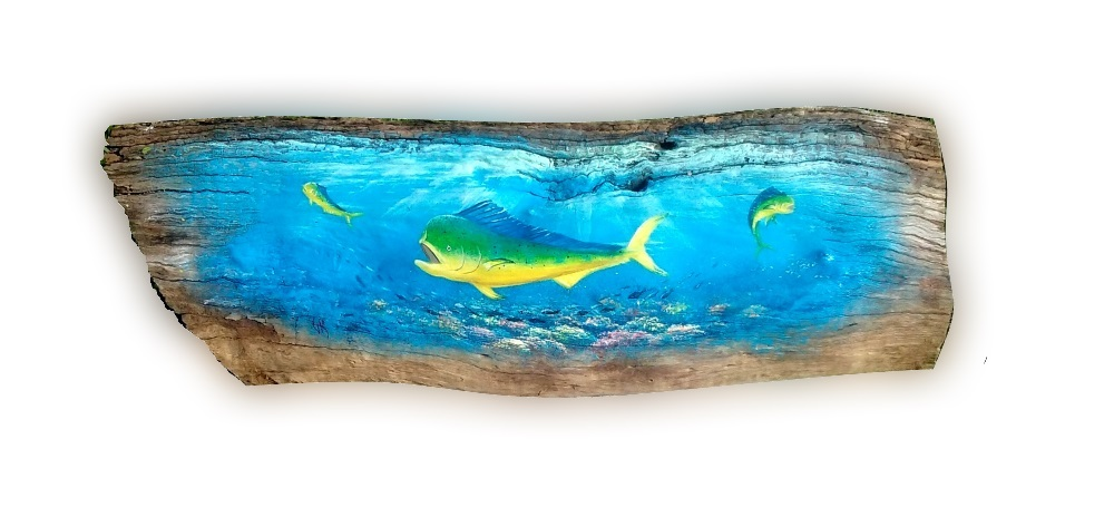 Driftwood original painting by Gary Boswell