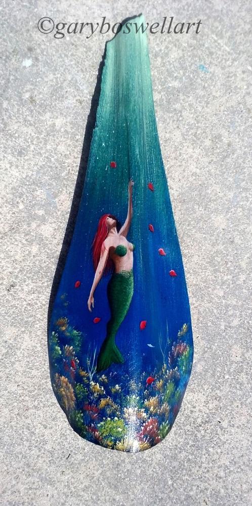 Mermaid painted frond