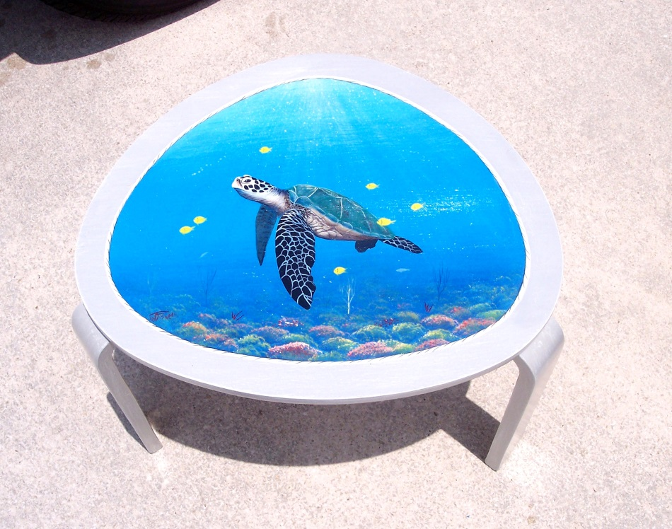 Coastal handcrafted Nautical tables by Florida Artist Gary Boswell