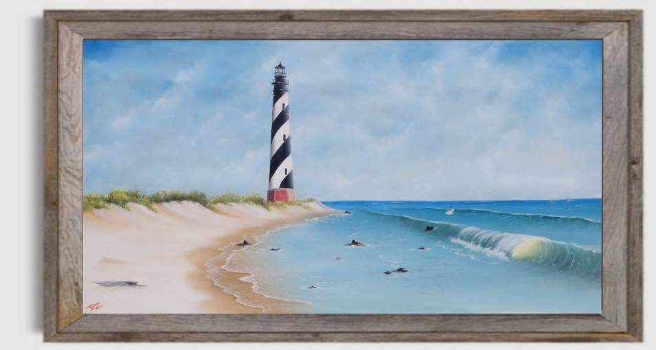 Cape Hatteras Lighthouse original painting by Gary Boswell
