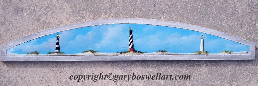 Over the door plaques by Florida artist, Gary Boswell
