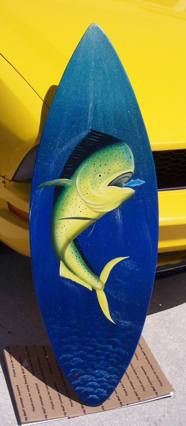 Painted surfboards by Gary Boswell