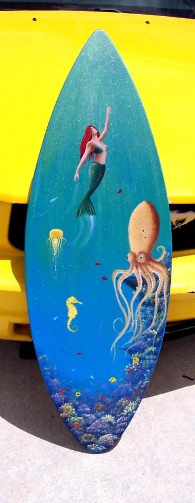 Handcrafted Surfboard Wall Art